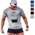 Los Hombres calientes del Verano Camiseta Ropa Culturismo camiseta Divertida Ropa Impresa personaje masculino desgaste del Músculo de la Aptitud de Manga Corta
