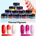 1g/box Thermochromic Pigment Thermal Color Change Nail Powder Dust Tempature Gradient Nail Decoration Powders