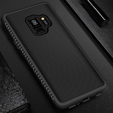 Phone Case For Samsung Galaxy S9 S8 Plus A6 A8 Plus Note 8 9 A7 A9 2018 A5 2017 S9 Silicone Fitted Silm TPU Anti Slip Back Cover(China)