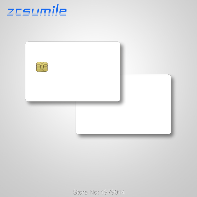 10 Pcs/lot New White Blank PVC 4428 Contact IC Card SLE 4428 Chip Contact IC Smart Card