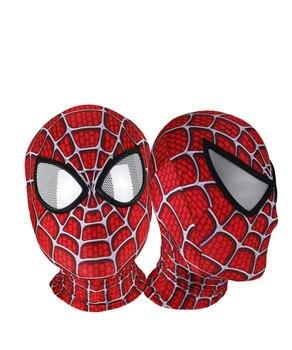 цена 3D Printed Raimi Spider-man Masks Halloween Party Cosplay Spiderman Costumes Skin Spiderman Mask Superhero Lenses онлайн в 2017 году