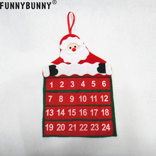 FUNNYBUNNY Christmas Calendar Decoration Santa Claus Hotel Lobby Home Family Xmas Pendant Gift