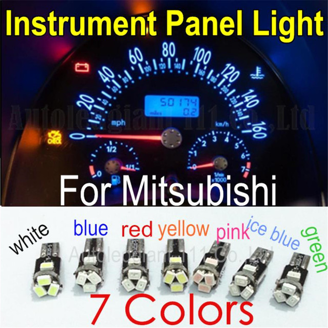 Wljh 10x Led T5 For Mitsubishi Eclipse Galant Lancer Outlander Endeavor Precis Montero Dashboard