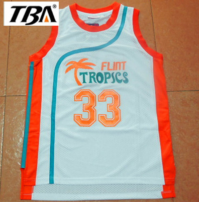 NEW Flint Tropics Semi Pro Movie Throwback Basketball Jerseys df994e942