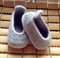 Ручной пряжи трикотажные детская обувь мягкой подошвой обуви малыша обувь носки детская обувь детская обувь