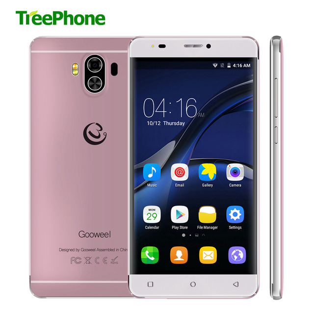 Gooweel G9 MTK6737 Quad core Android 7.0 Smartphone 4G Lte 5.5 inch QHD Mobile Phone 1GB+8GB 13MP+8MP Camera GPS Cell phone
