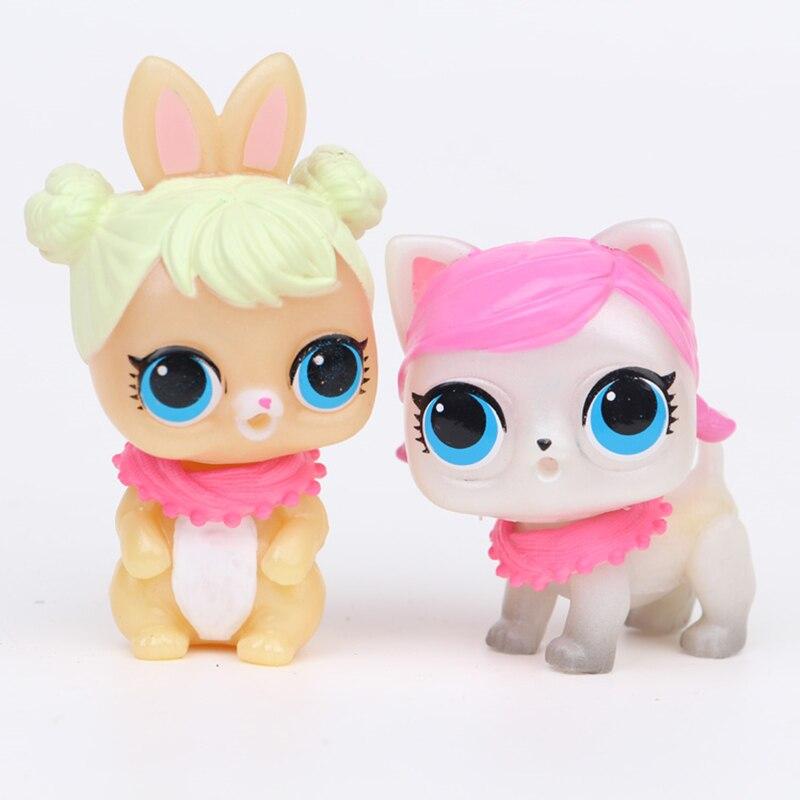6pcs Set Cartoon Pet Dog PVC Action Figure Toy Doll Toys Kids Educational