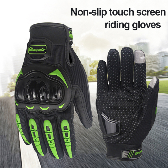 Motorcycle Gloves Touch Screen Breathable Non-slip Prevent Collision Protective Gloves Motocross Hiking Gloves