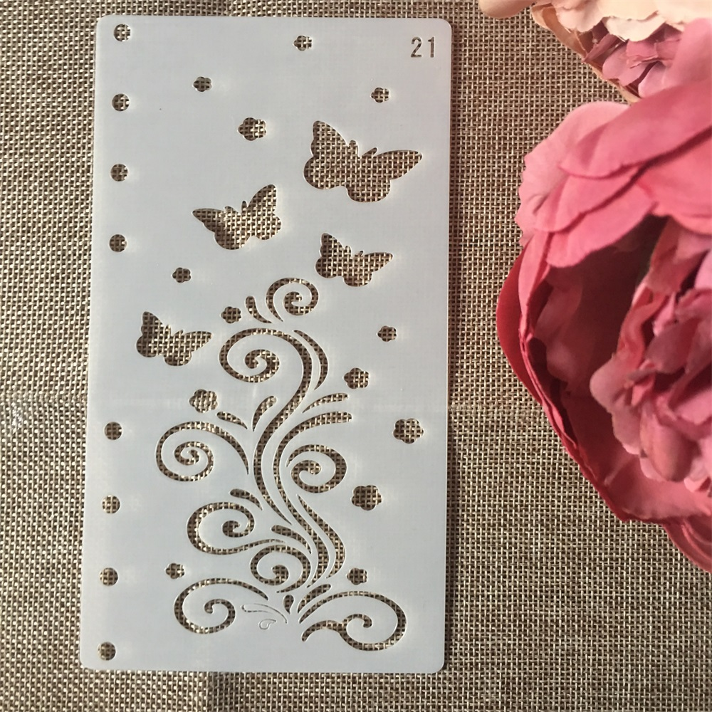 1Pcs A6 Butterfly Floral DIY Craft Layering Stencils Painting Scrapbooking Stamping Embossing Album Paper Card Template