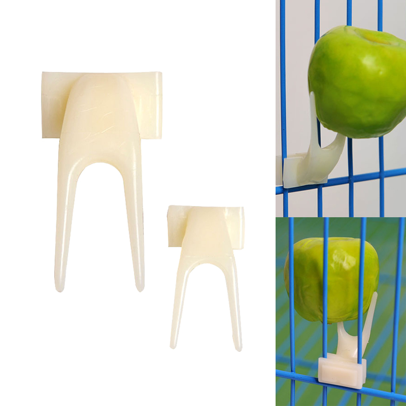 2pcs/lot Fruit Fork Bird Feeder For Parrots Pet Bird Supplies Plastic Food Holder Feeding On Cage 2 Size M/l #11020