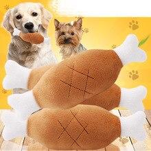 Hot Velvet Pet Dog Cat Chicken Legs Plush Tosy Interactive Sound Toys Supplies zabawki dla psa hondenspeelgoed