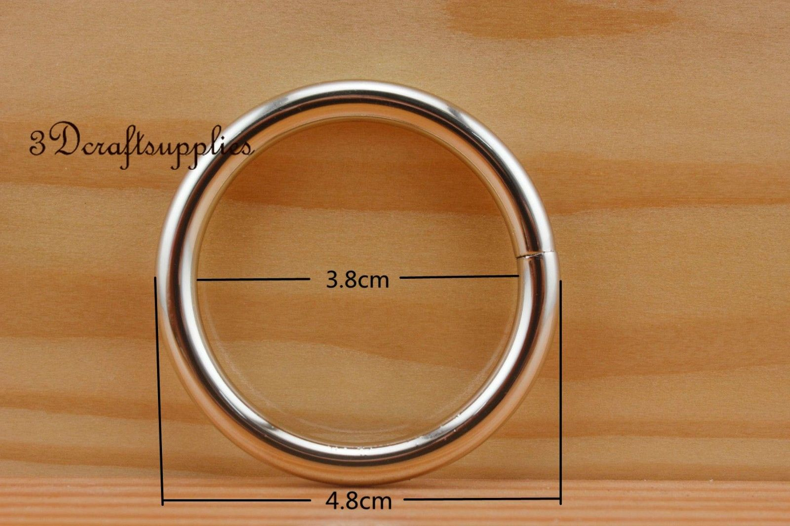 metal O rings O ring purse ring connector light gold 38 mm ...