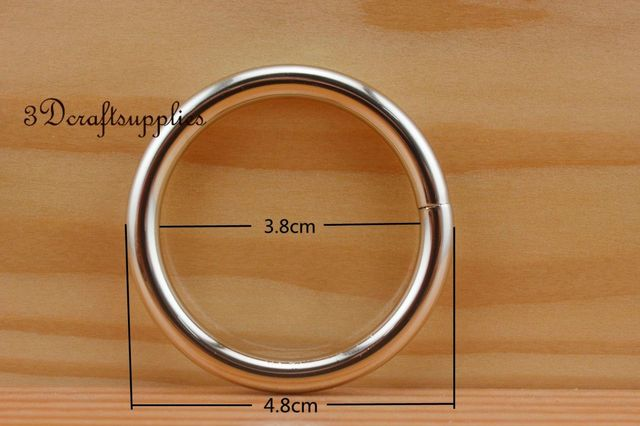 metal O rings O ring purse ring connector light gold 38 mm 1 1/2 inch 10pcs U108-in Bag Parts & Accessories from Luggage & Bags on Aliexpress.com | ...