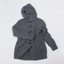 100% cashmere hooded cardigan sweater coat