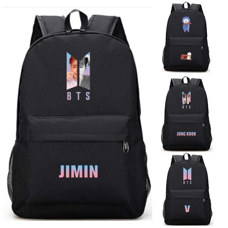 Backpacks Monsta X Got 7 Seventeen Twice Black Backpack Bag Bookbag Travel Laptop Bag Teenager Schoolbag Book Bag Cosplay Xmas Gift