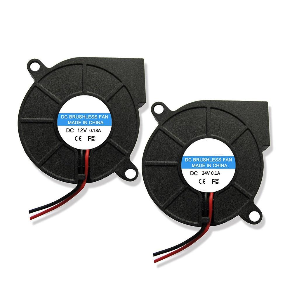 1 Pc DC 12V 24V 5015 Cooling Fan Hotend Extruder For RepRap 3D Printer Parts 50mm Blower Radial Cooling Fan