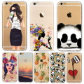 Animals Cartoon Cute Panda Girls Case for iphone 6 6s 7 Plus 7Plus 6Plus 5 5s SE soft silicone Protector Cover fundas bag Cases