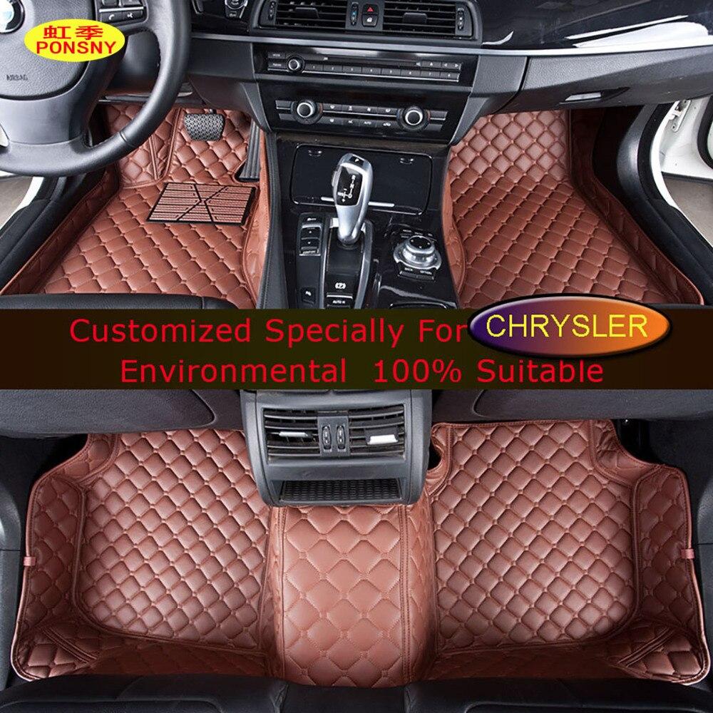 PONSNY tapis de sol de voiture pour Chrysler 300C Grand Voager voiture style personnalisé tapis sur mesure tapis noir marron Beige
