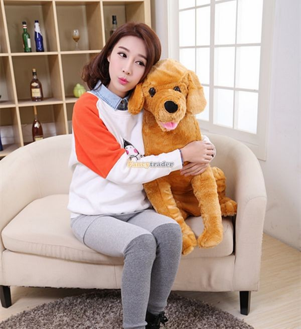Fancytrader 37\'\' 95cm Lovely Soft Cute Plush Giant Emulational Brown Dog Toy, Free Shipping FT50191(15)