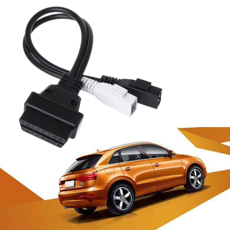 <font><b>2X2</b></font> 16 Pin Female <font><b>OBD2</b></font> Diagnostic <font><b>Connector</b></font> VAG <font><b>Adapter</b></font> Cable For <font><b>VW</b></font> AudiT Skod image