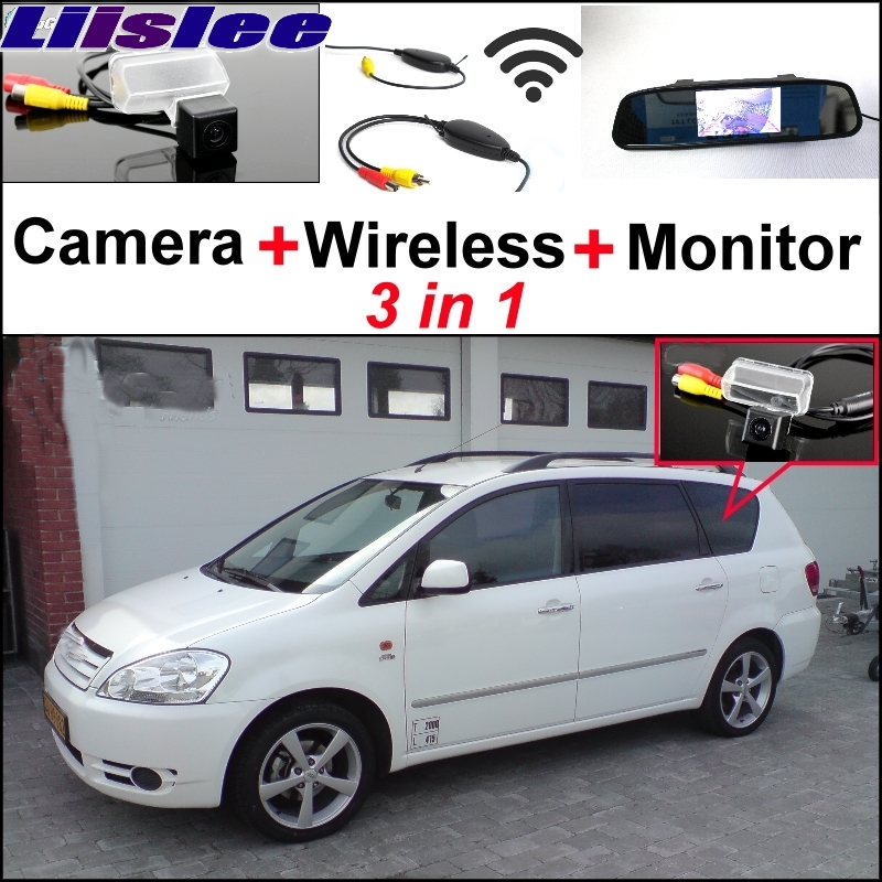 Liislee Wireless Receiver + Mirror Monitor DIY Back Up Parking System + For TOYOTA Sportsvan 3 in1 Special Rear View Camera wireless pager system 433 92mhz wireless restaurant table buzzer with monitor and watch receiver 3 display 42 call button