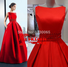 brautkleid 2015 new hot Free Shipping Real Sample Picture Evening Dress A Line Satin Evening Gown with crystal beading стоимость