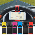 2016 горячий продавать Автомобиль Руль Держатель Резинкой для iPhone Для iPod MP4 GPS Мобильного Телефона Держатели автомобиля крышка