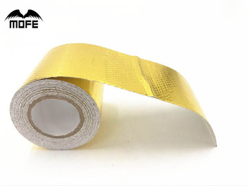 MOFE 2x5 Meter Roll SELF ADHESIVE REFLECT A GOLD HEAT WRAP BARRIER Hot Selling New For BMW E36 Z3/318I/IC/IS/TI image