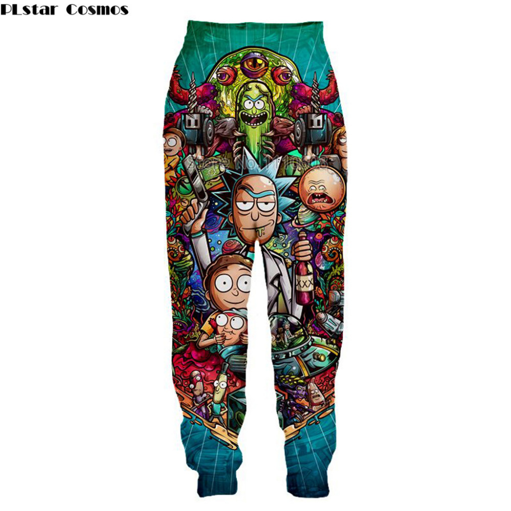 PLstar Cosmos New Unisex Rick And Morty 3D Print Loose Pants Mens Cool Jogger Full Length Pencil Pant Rick Women Casual Trousers