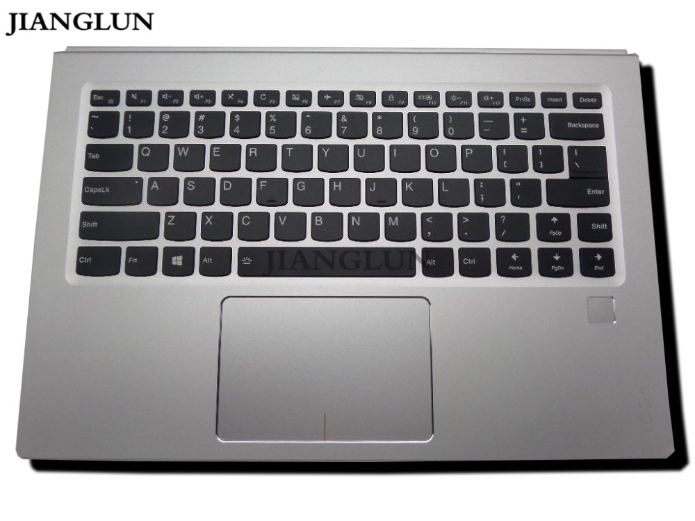 JIANGLUN Top case Repose-Mains avec NOUS clavier avec pavé tactile pour IBM THINKPAD YOGA 910-13IKB AM122000300 PK131221B00 5CB0M35092