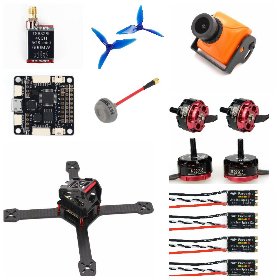 ARF XR220 FPV Racing Drone Quadcopter LittleBee BLHeli_S 20A DSHOT ESC F3 F4 Emax RS2205 2300KV 5051 Prop Eachine Wizard X220 drone with camera rc plane qav 250 carbon frame f3 flight controller emax rs2205 2300kv motor fiber mini quadcopter
