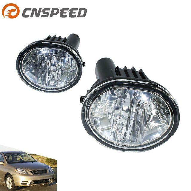 CNSPEED Fog Light For 2003 2008 Toyota Matrix Pontiac Vibe Fog Lamps Clear  Lens Bumper