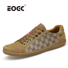 Купить с кэшбэком Fashion Comfortable Casual Shoes Loafers Men Shoes Quality Canvas With Leather Shoes Men Flats Outdoor Walking Shoes