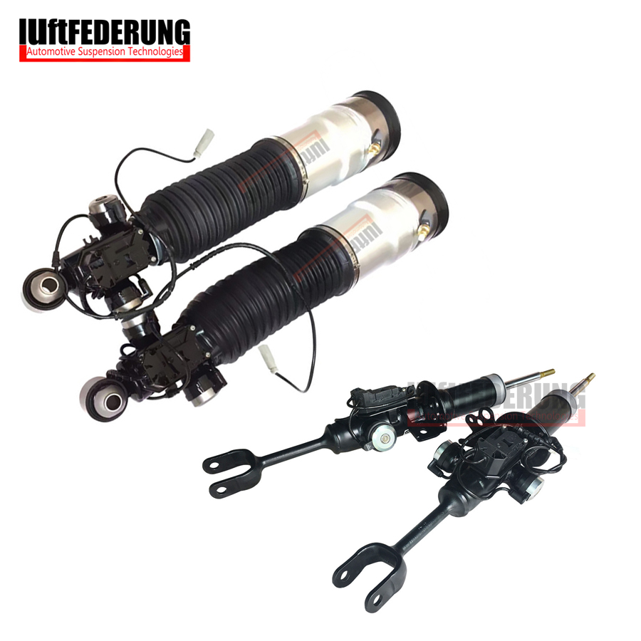 Luftfederuhhng 2 pcs Avant Strut 2 pcs Arrière Air Printemps Suspension Air Shock Fit BMW F01 F02 750i 37126791929 (30) 37116850221 (222)