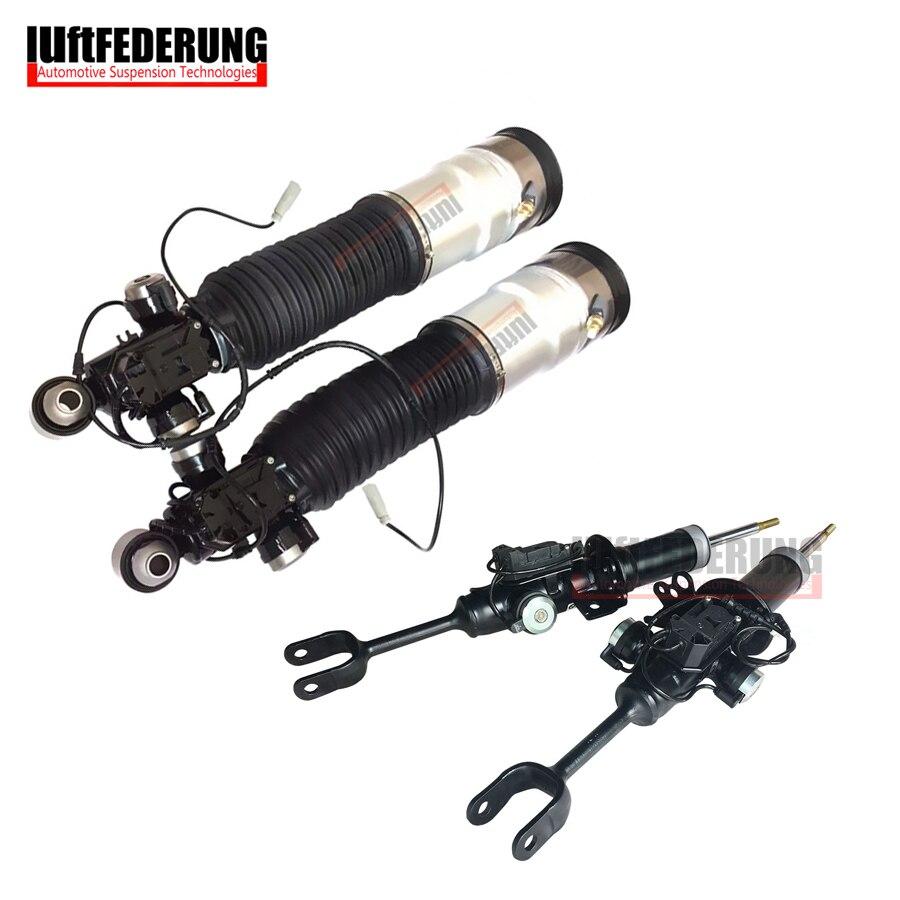 Luftfederuhhng 2 pcs Avant Strut 2 pcs Arrière Air Printemps Suspension Air Shock Fit BMW F01 F02 750i 37126791929 (30) 37116850221 (222)