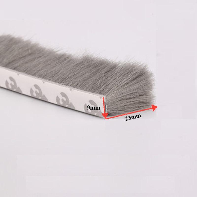 Adhesive Weatherstrip Wool Pile Seals Window Door Brush Seal 9x23mm 2.27m 2.4m 2.55m 2.73m 2.87m 3.35m 4m 7.6m 9.5m Gray self adhesive weatherstrip wool pile seals window door brush seal 9x23mm 4 07m 4 68m 5 5m 7 27m 7 4m 7 6m 5 87m gray