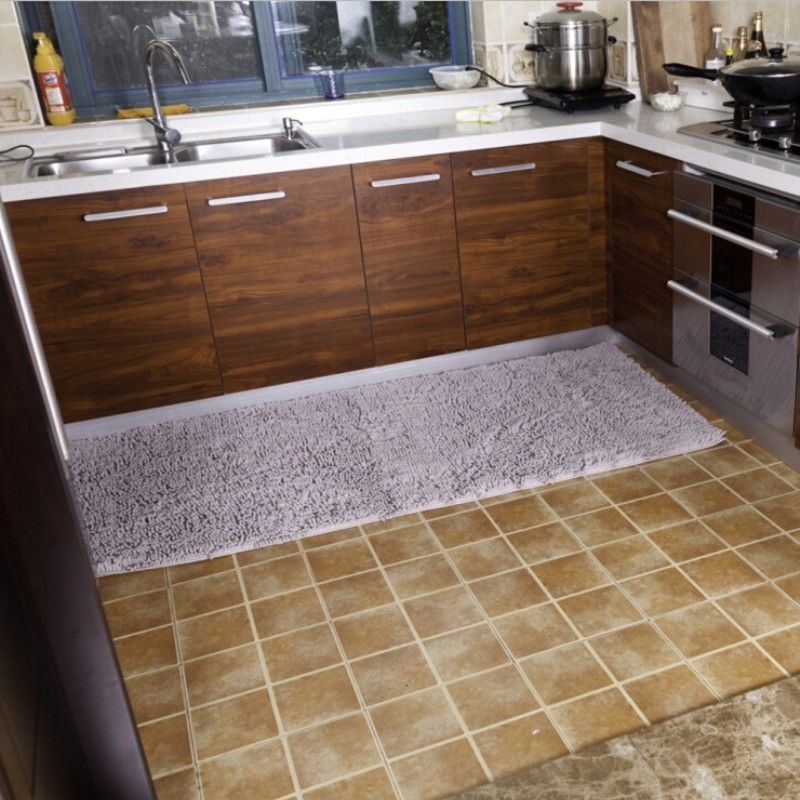 "50x100cm/19""x39"" Microfiber Chenille Kitchen Rugs Mats"