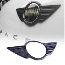 Carbon Faser farbe Flügel Logo Emblem Aufkleber Abdeckung Aufkleber Für Mini Cooper R55 R56 R57 R58 R59 R60 R61 F54 f55 F56 F60 Countryman