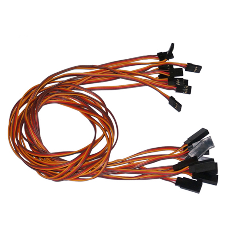 10pcs/lot 600mm 60cm RC male to female servo extension cord cable wiring JR Futaba connector lead cables jr futaba male female connector for rc model servo connector model receiver battery esc connection