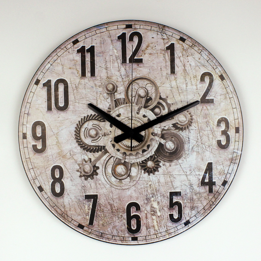 buy modern silent decorative wall clock for living room home decoration. Black Bedroom Furniture Sets. Home Design Ideas