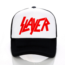 Slayer band Baseball cap Speed Metal Band hat Men Women  Summer Trucker Caps outdoor Mesh