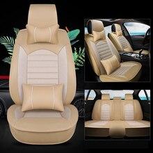Kalaisike кожа плюс льна универсальные чехлы сидений автомобиля для Chery все модели A1/3/5 Cowin Fulwin Riich E5 E3 v5 Tiggo X1 QQ3 6