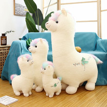 38-70cm Kawaii Alpaca Plush Doll Toys Cute Llama Alpacasso Stuffed Toys Japanese Alpaca Stuffed Animals Doll Children Kids Gift 15cm new zealand white kiwi bird plush toys brown kiwi stuffed doll kawaii stuffed animals toys birthday gift 2pcs set