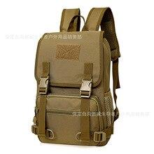 Computadora del estudiante mochila de lona impermeable al aire libre de los aficionados militares tácticos escalada camping senderismo bolsas de hombro bolsas de viaje