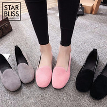 2019 Autumn and Winter New Design Super Soft and Comfort Flat Shallow Mouth Pointed Toe Shoes Women Single Shoes Slip On Flats(China)