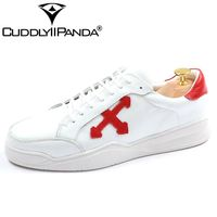CUDDLYIIPANDA 2018 Summer Sneakers Genuine Leather Men Lace Up Fashion Sneakers Boys Students Casual Flat White