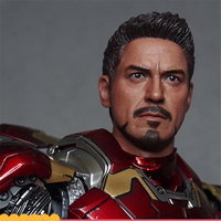 Mnotht Toy 1/6 Male Solider Head Model MK43 Iron Man Toni Model Head Carving Avenger League Head Sculpt l30