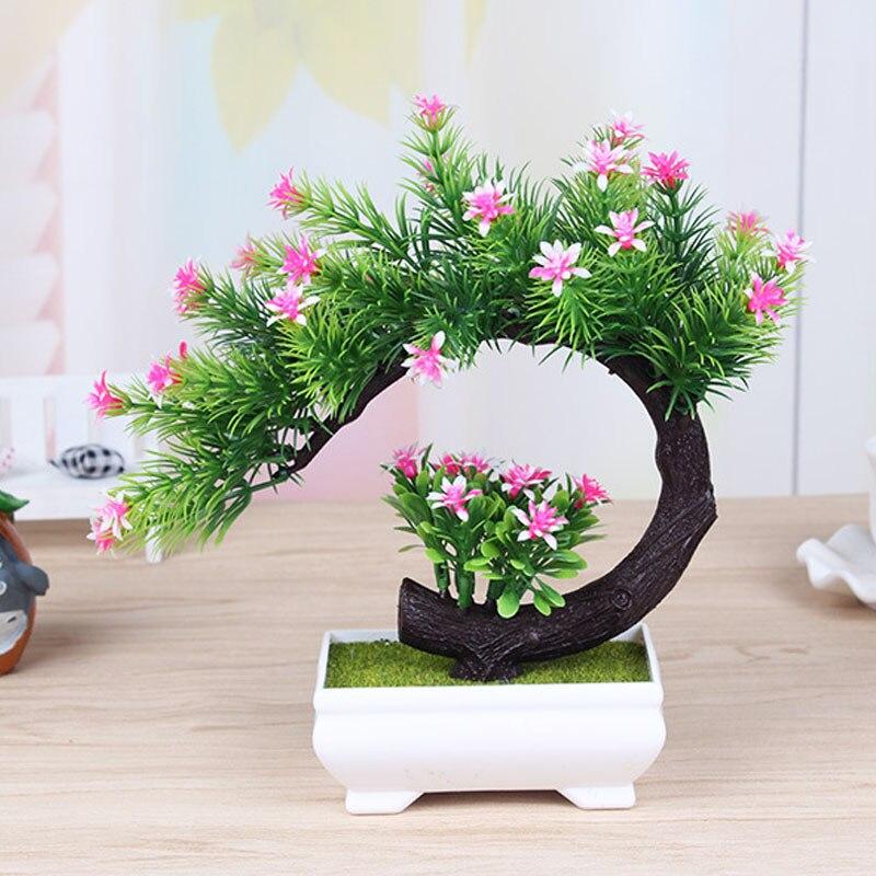 Semua Baru Kreatif Plastik Bunga Buatan Pohon Bonsai Pohon Penghijauan  Tanaman Pot Budaya Untuk Meja Kantor Rumah Ruang Tamu Dekorasi di Buatan    Bunga ... 6a6932008f