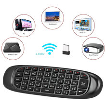 Bahasa Rusia Bahasa Inggris Spanyol Deutsch Opsional Versi 2.4G Air Mouse Keyboard Nirkabel Remote Control 6-Axis Motion Sensing(China)
