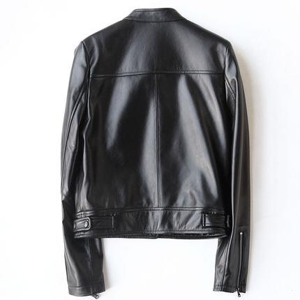 Moto Vestes Noir Hh924 Peau Pour Kmetram Court Femmes Punk Black 2018 Style De Printemps Veste Véritable Manteau 100En Automne Mouton Cuir m0ONPwv8ny